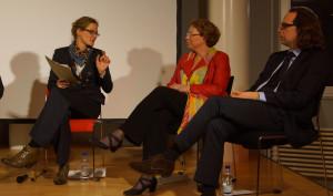 im Gespräch mit Dr. Annette Klinkert, city2science und Marco Rieso, IHK Bielefeld